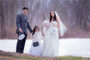 Stacey and Cris' winter wonderland wedding at Valley Lo County Club
